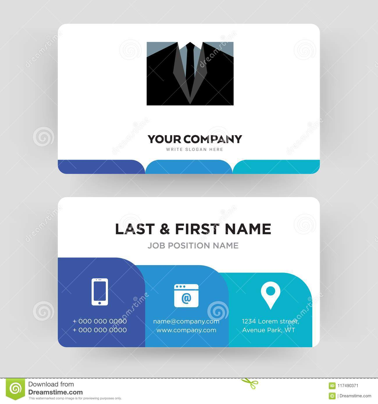 Dress Code Business Card Design Template Visiting For Your Company