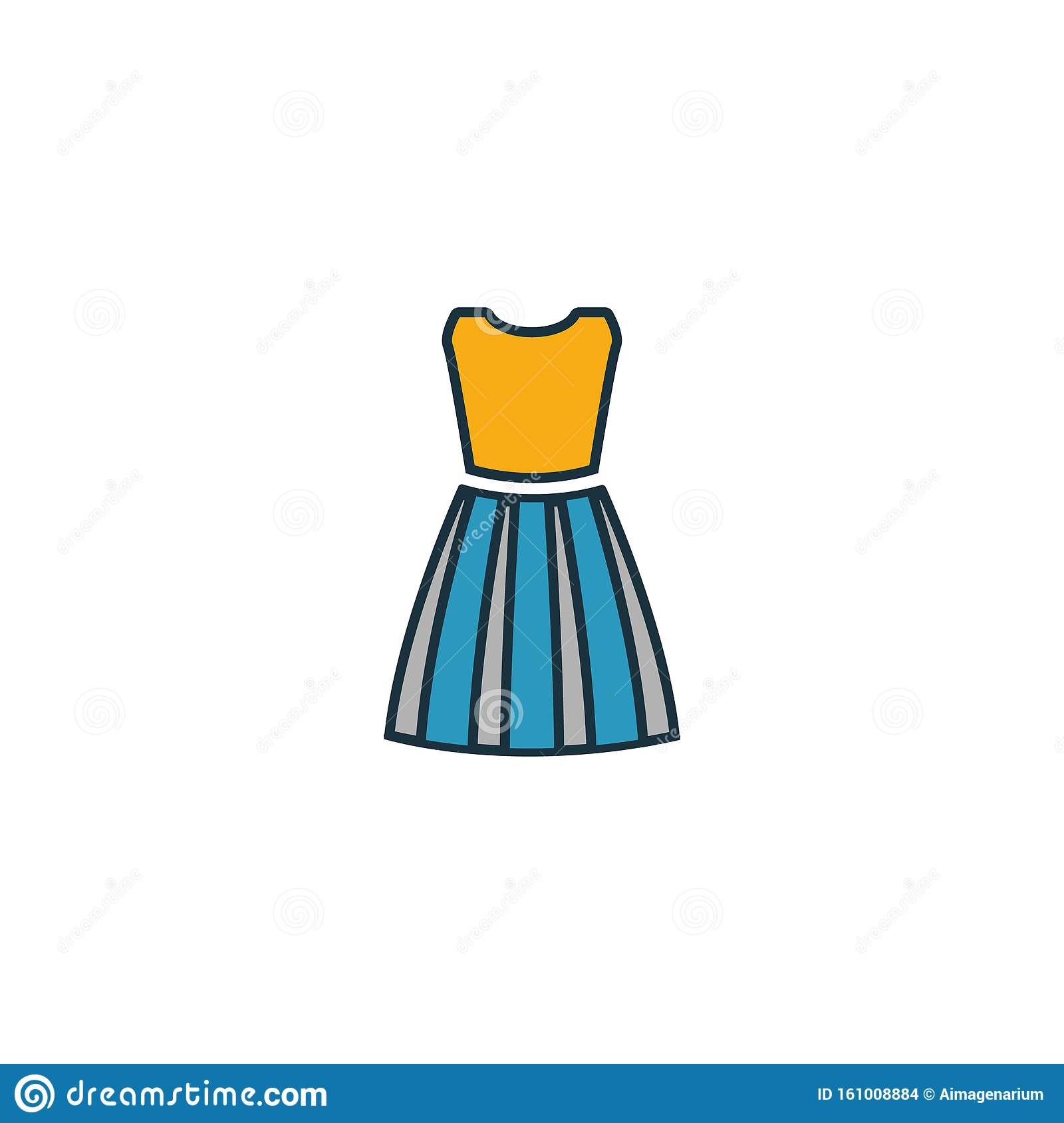 Dress Female Icon Pixel Perfect Using For Web Design Apps Software Print Dress Female Icon Design From Clothes Collection Stock Illustration Illustration Of Girl Accessories 161008884