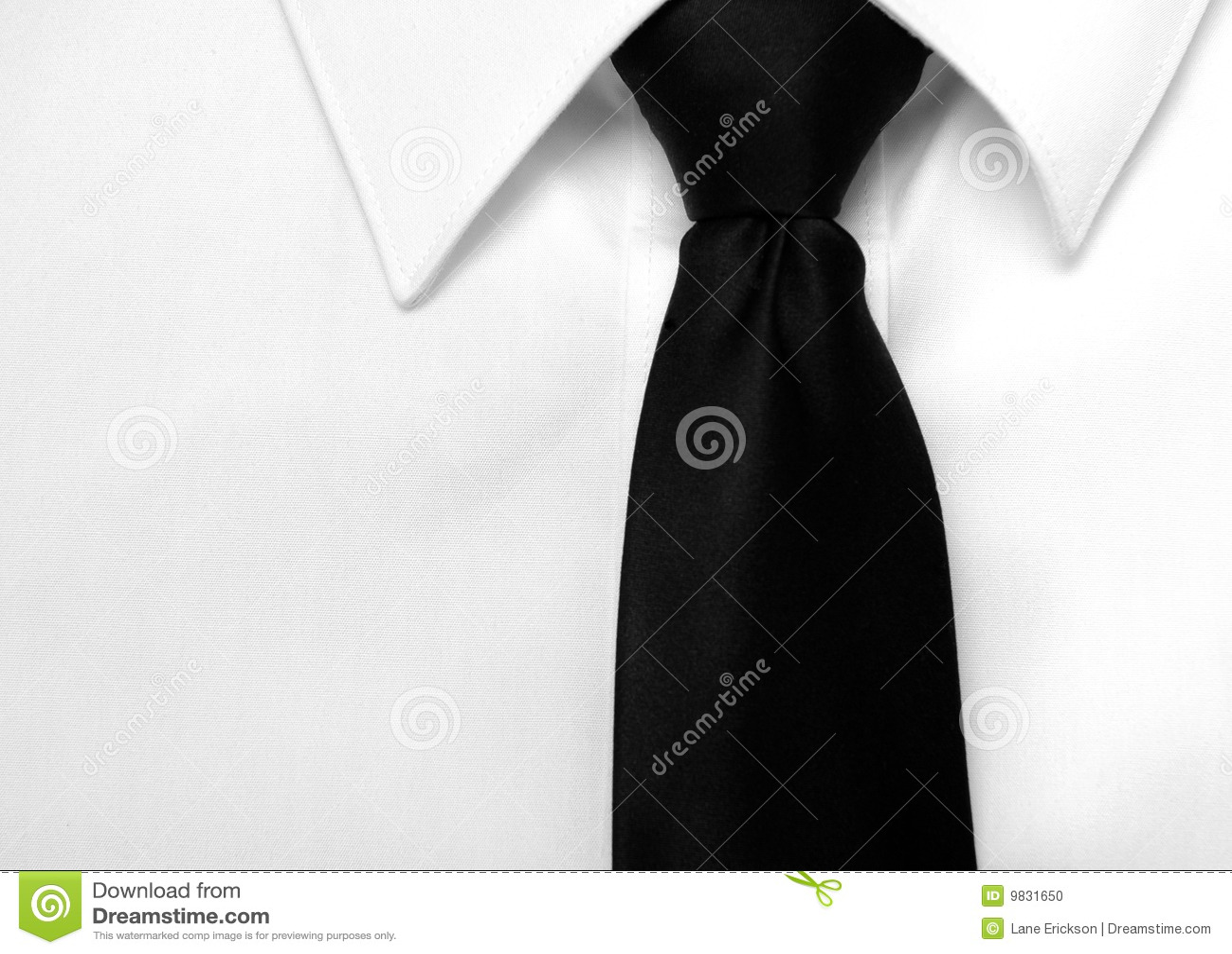 Dress shirt black tie stock photo image 9831650 for Black shirt black tie