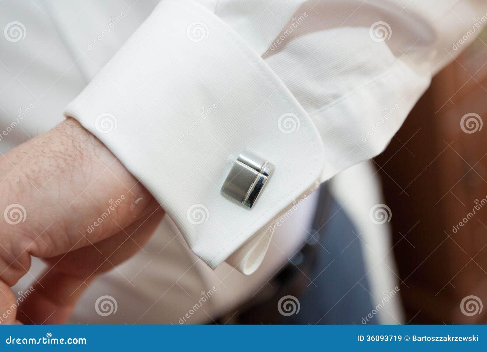 Dress shirt cufflinks in a suit stock image image 36093719 for Dress shirt for cufflinks
