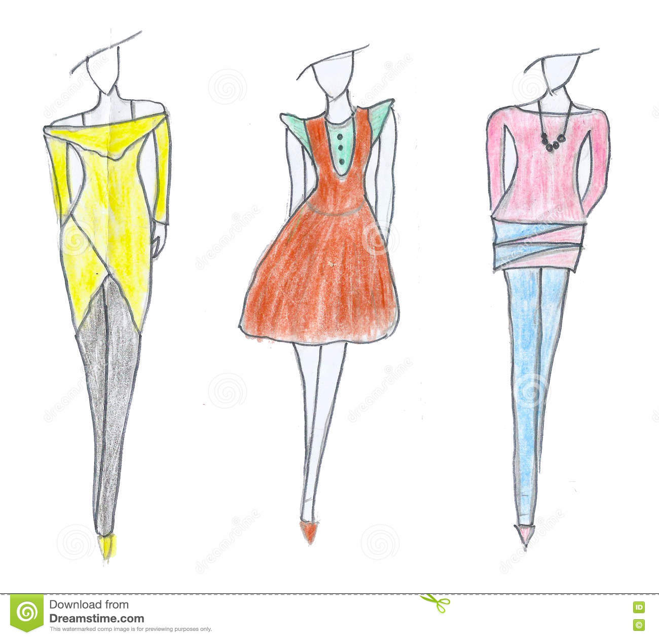 Cool Fashion Dress Drawing | Armelle Jewellery