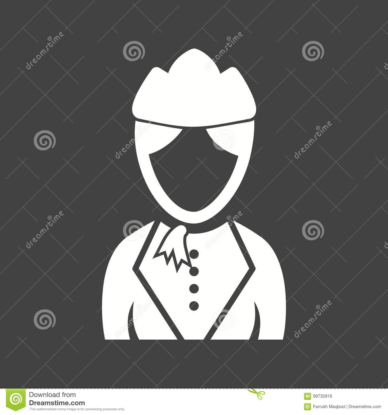 Lady In Hostess Dress Stock Vector Illustration Of Makeup 99735916