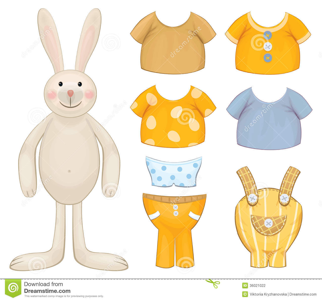 dress up bunny template stock photography   image 36021022