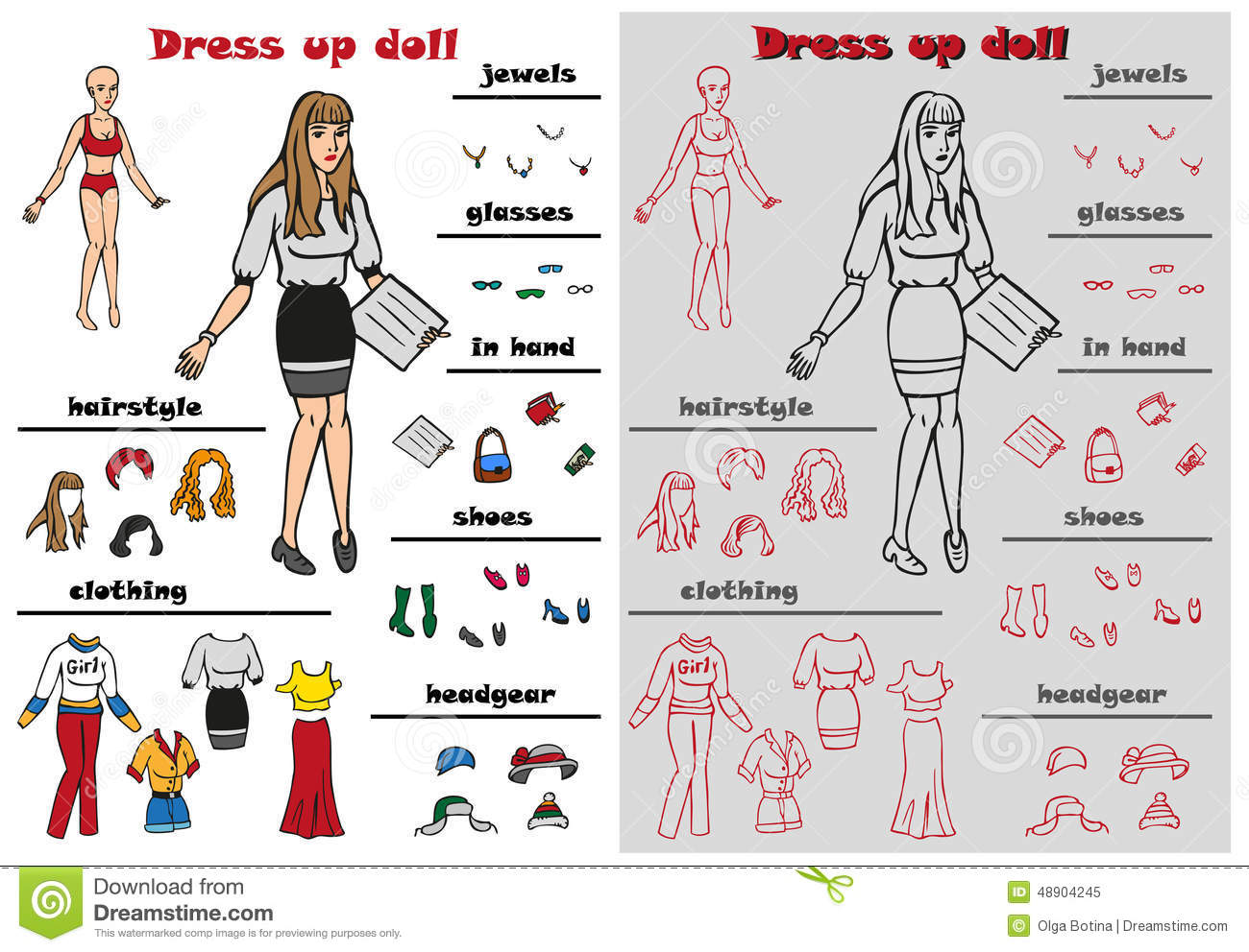 Something is. Dress up naked doll directly. opinion