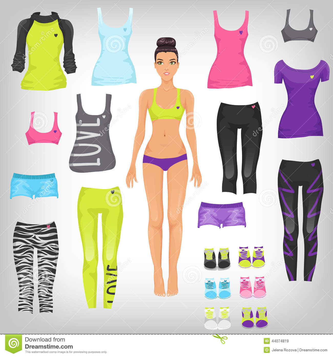 Dress Up Sporty Paper Doll