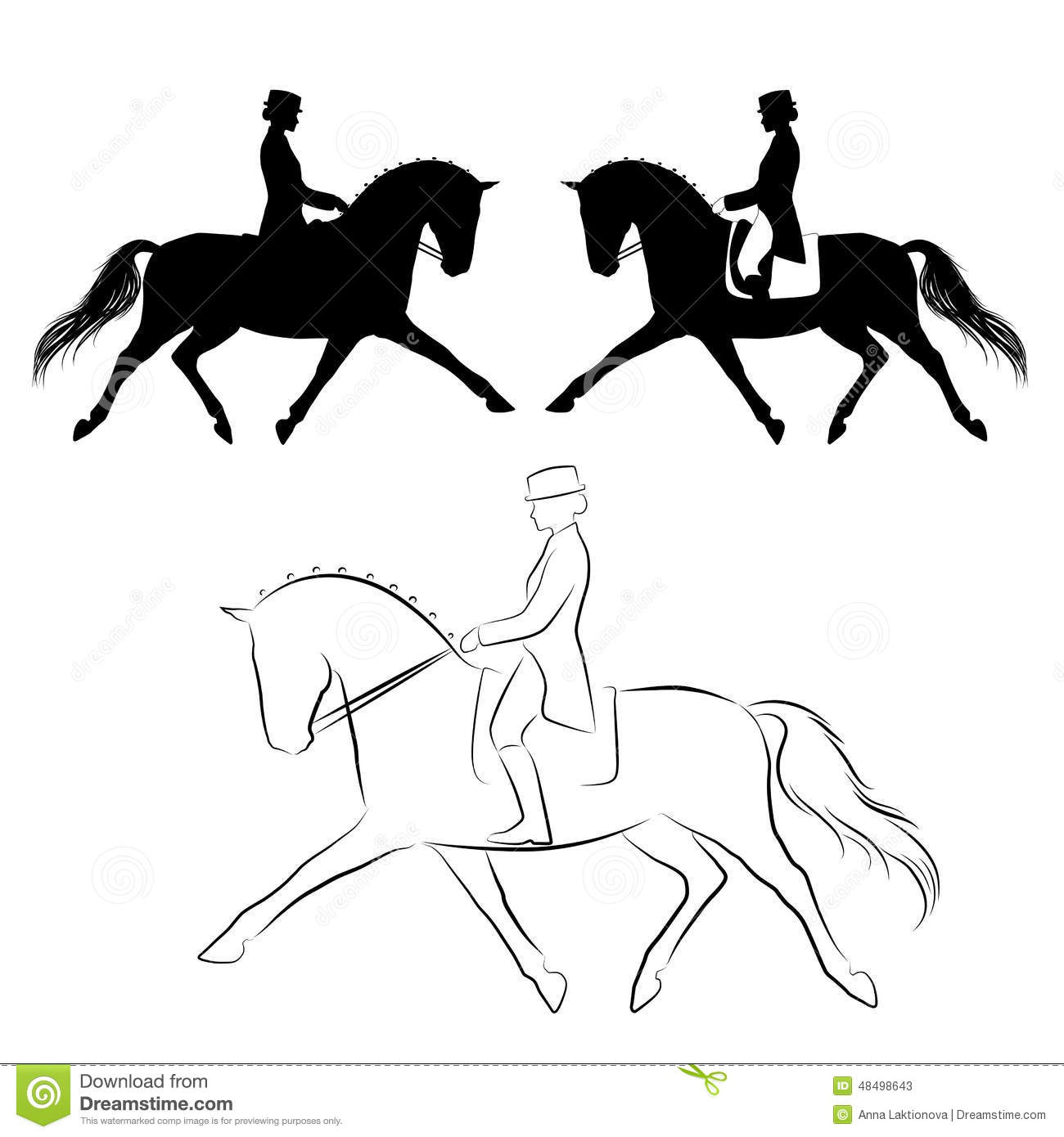 clip art dressage horse - photo #31
