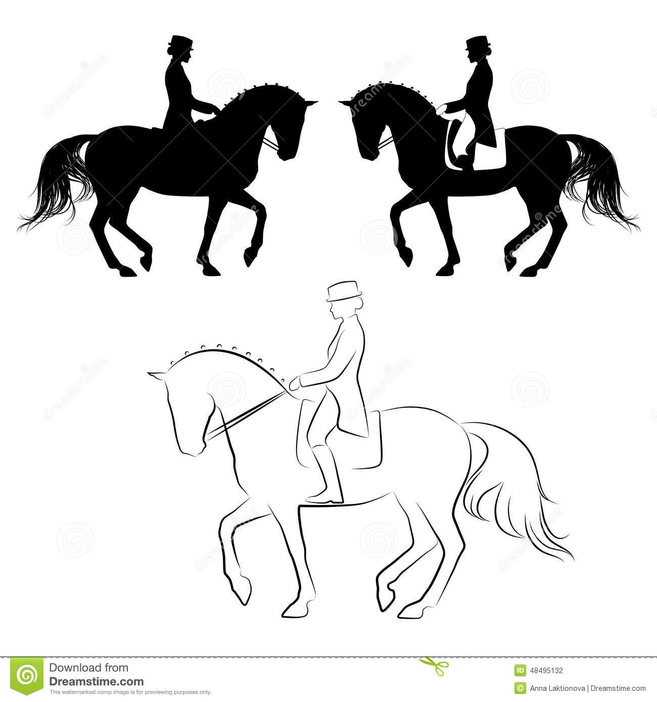 Dressage Piaffe Stock Vector - Image: 48495132
