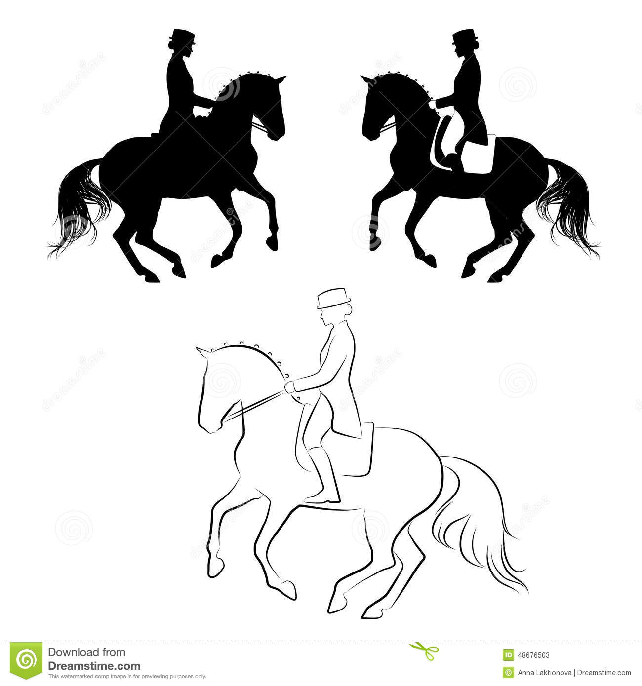 Dressage Pirouette Stock Vector Image Of Dressage Design