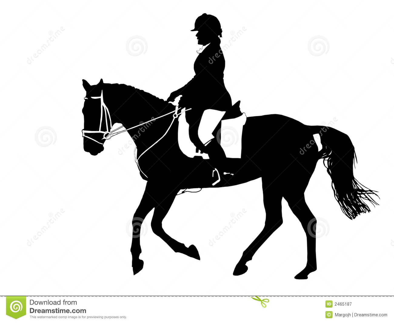 Horse silhouette dressage - photo#21