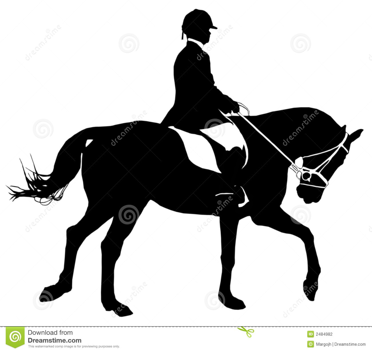 clip art dressage horse - photo #39