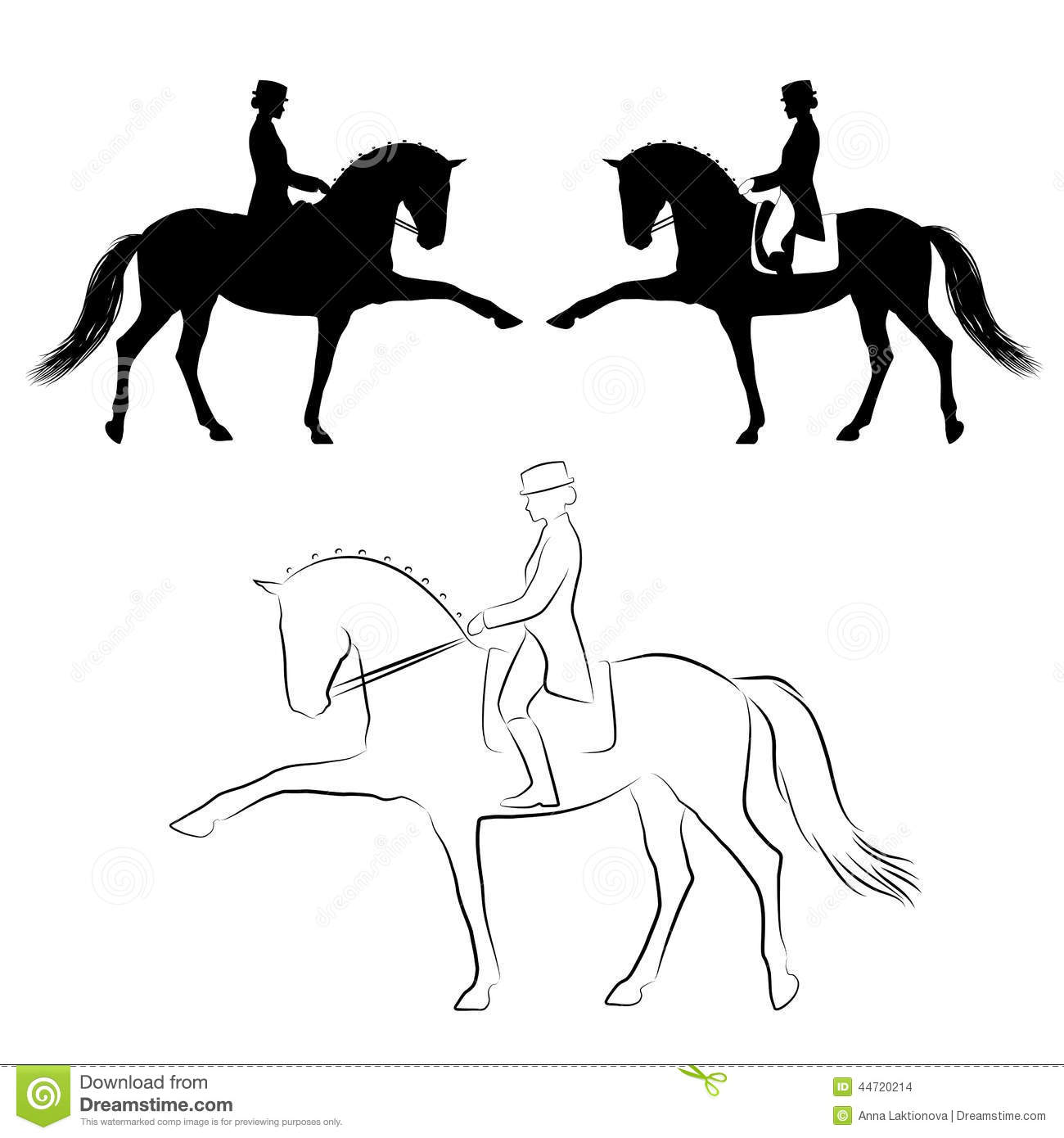 Dressage Spanish Walk Stock Vector - Image: 44720214