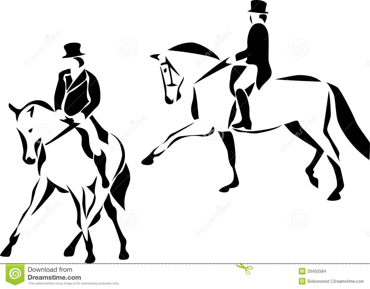 Dressage Stock Vector Illustration Of Trot Riding Horse