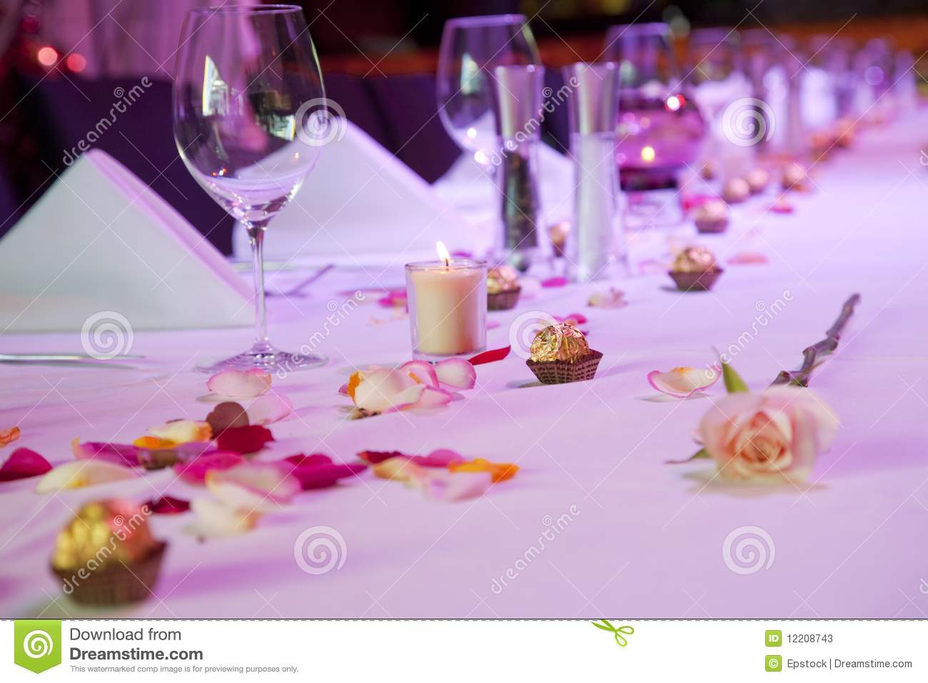 18e171f2bff Dressed Restaurant Table For Special Occasion Stock Image - Image of ...