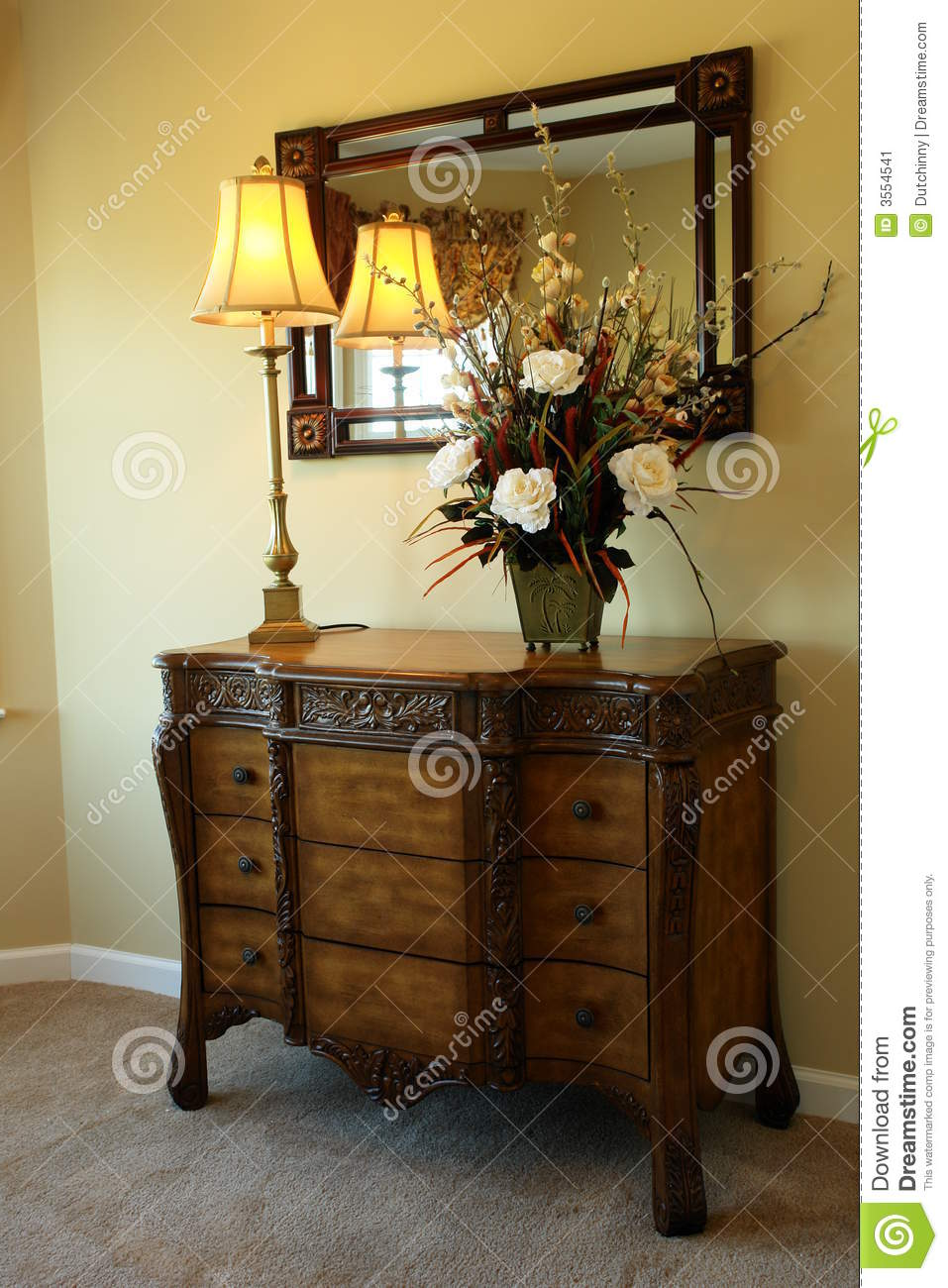 Dresser In Master Bedroom Stock Image Image 3554541