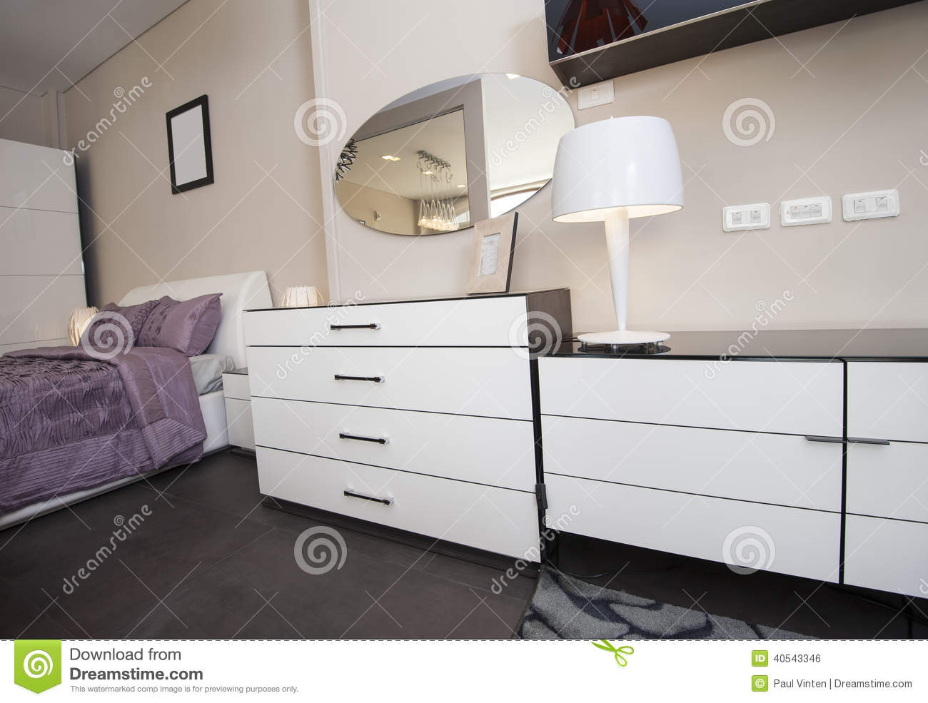 Dresser Unit In Bedroom Of Show Home Stock Photo Image 40543346