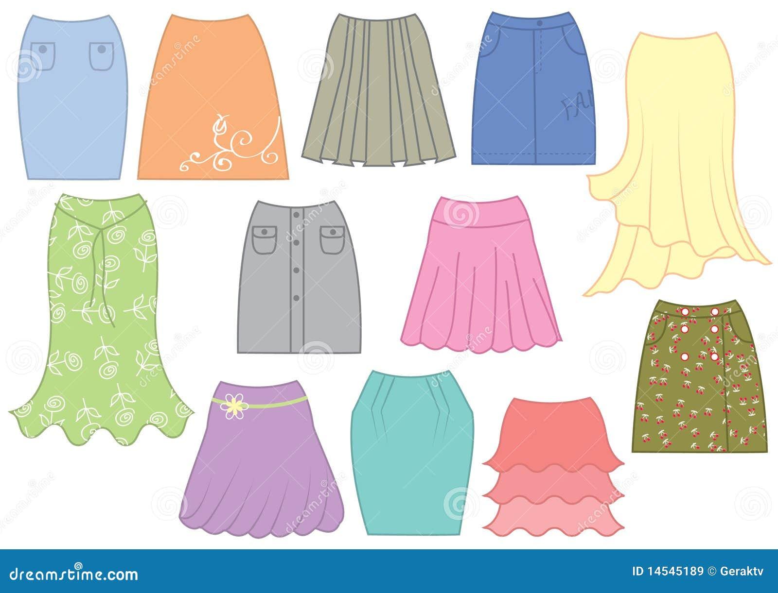 8301ebf817c1bb Dresses and skirts stock vector. Illustration of fashion - 14545189