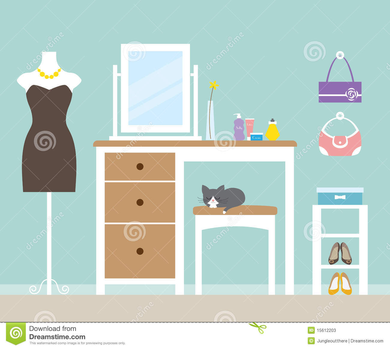 Dressing Room Stock Vector Illustration Of Accessories