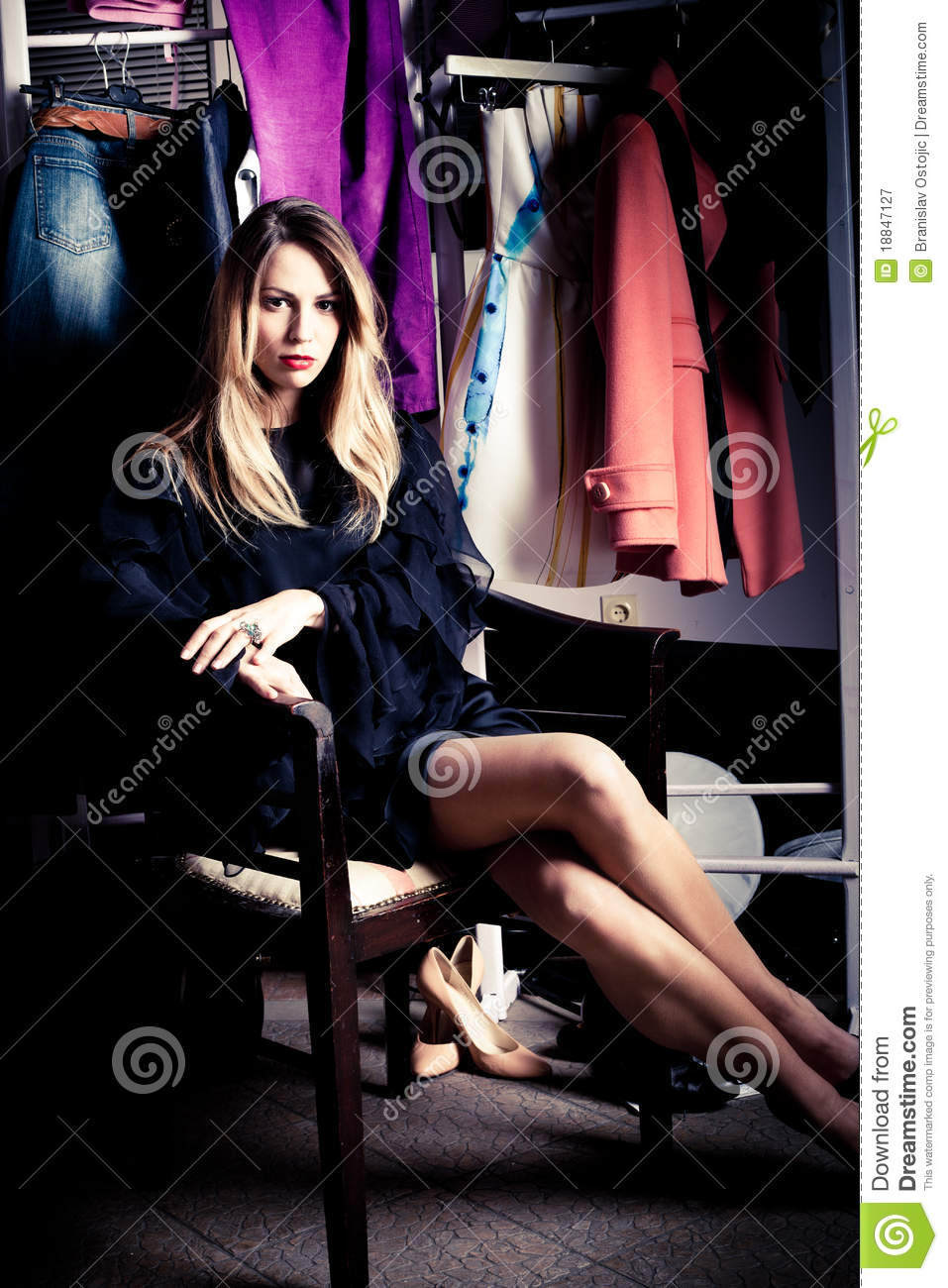 In Dressing Room Royalty Free Stock Photography Image