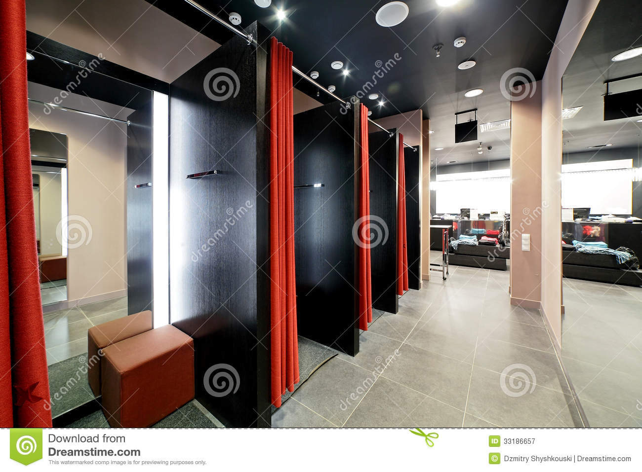 Dressing Room In Clothes Store Royalty Free Stock