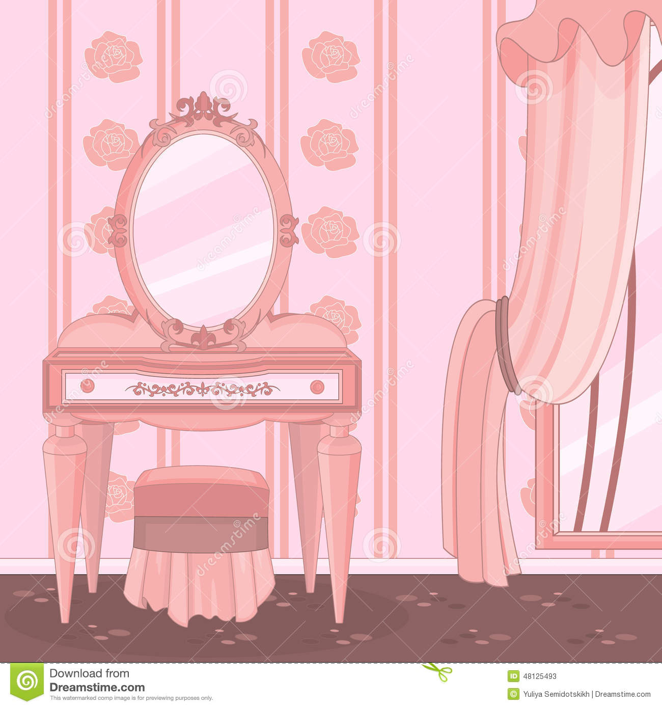 Dressing Room Stock Vector Image 48125493