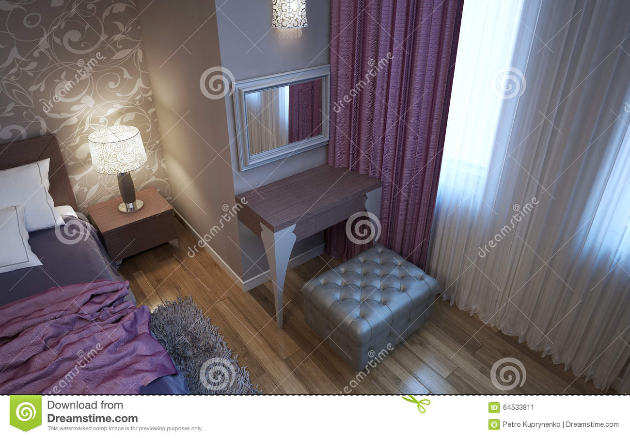 dressing table in art deco style bedroom stock photo image 64533811. Black Bedroom Furniture Sets. Home Design Ideas