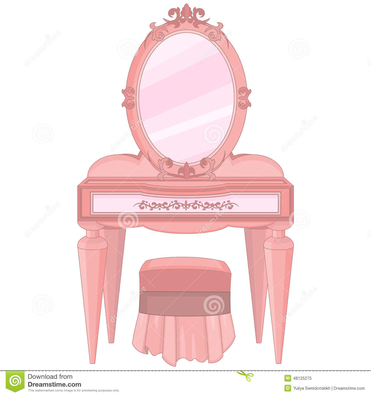 Dressing Table Stock Vector Image Of Style Pretty