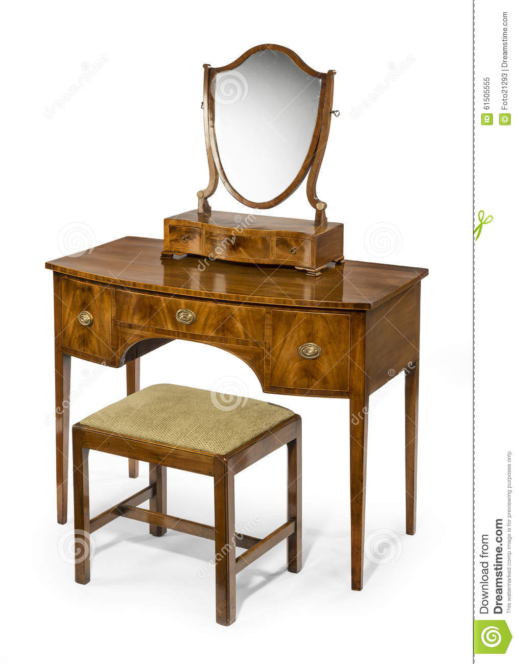 Mirrored Vanity Table And Stool: Dressing Table Mirror And Stool Set Antique And Vintage