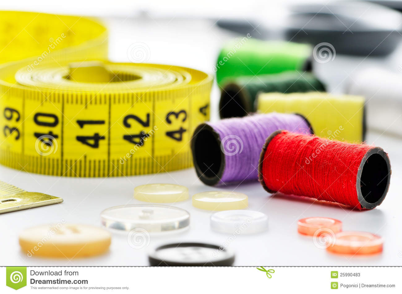 Dressmakers sewing materials stock photos image 25990483 for Sewing materials