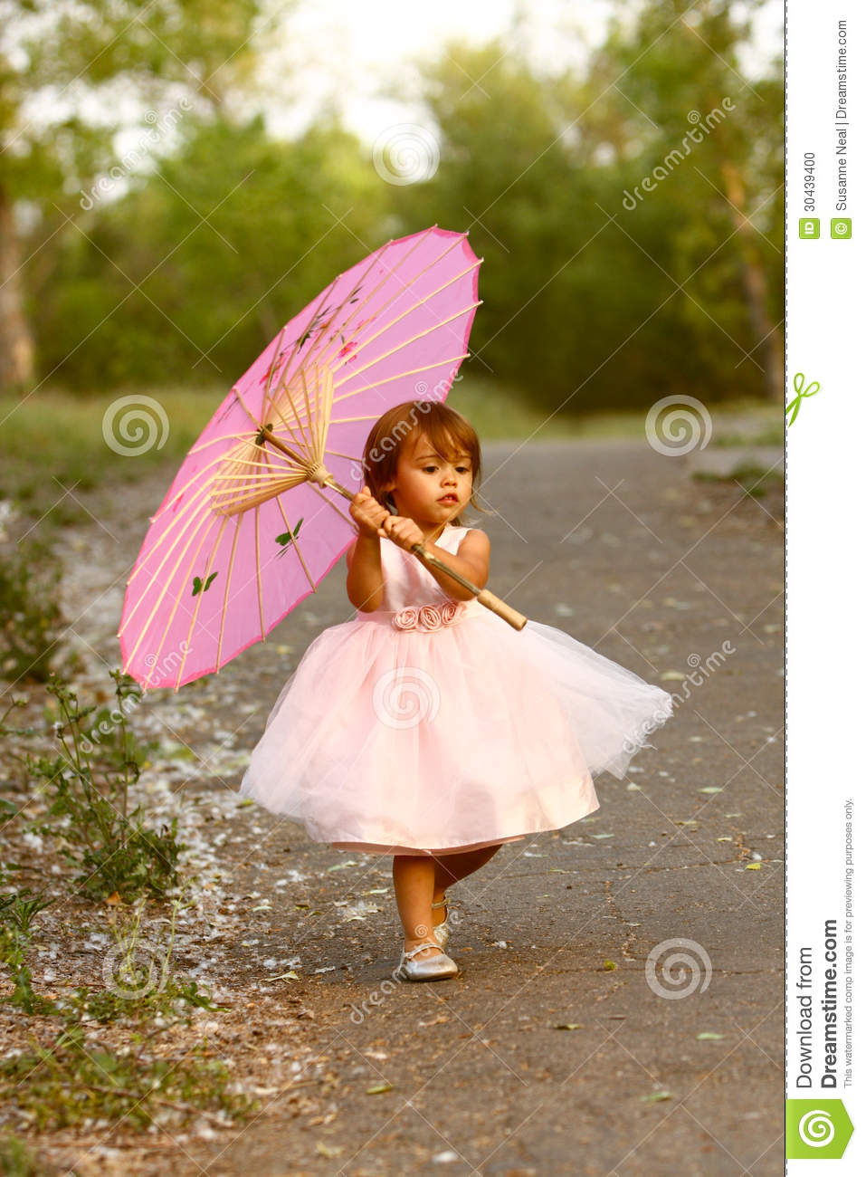 Astounding Dressy Two Year Old Girl Carrying Pink Parasol Stock Photo Image Short Hairstyles Gunalazisus