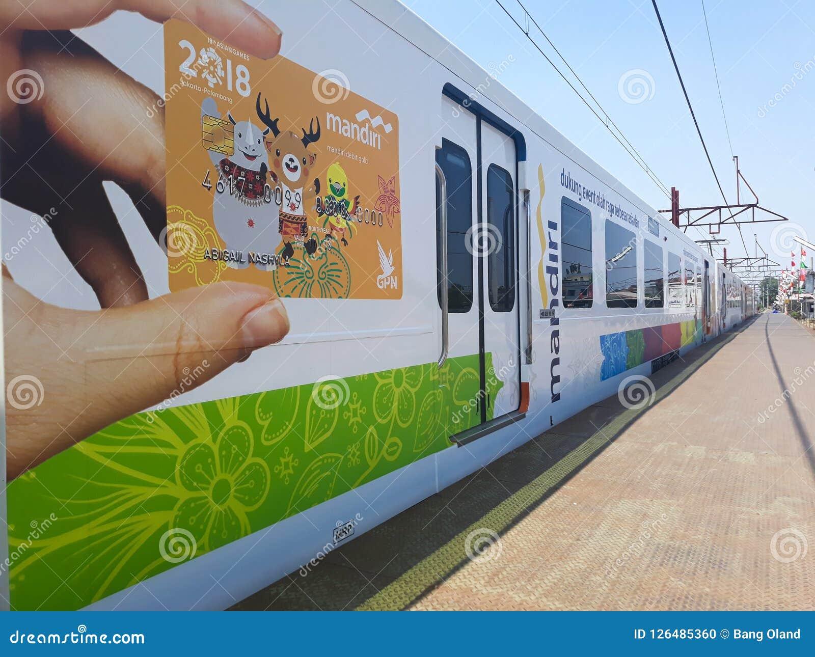 Drev på den Bekasi järnvägsstationen
