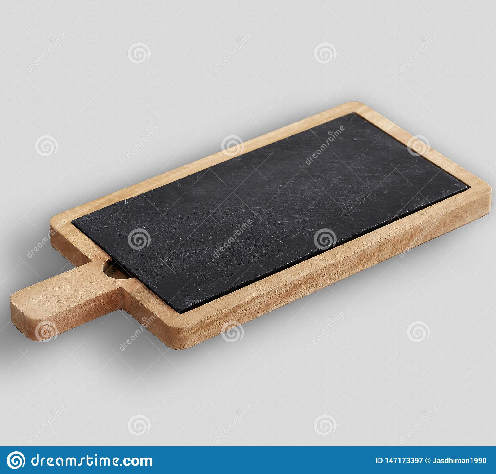Drewna & łupku sera deska z białym tłem