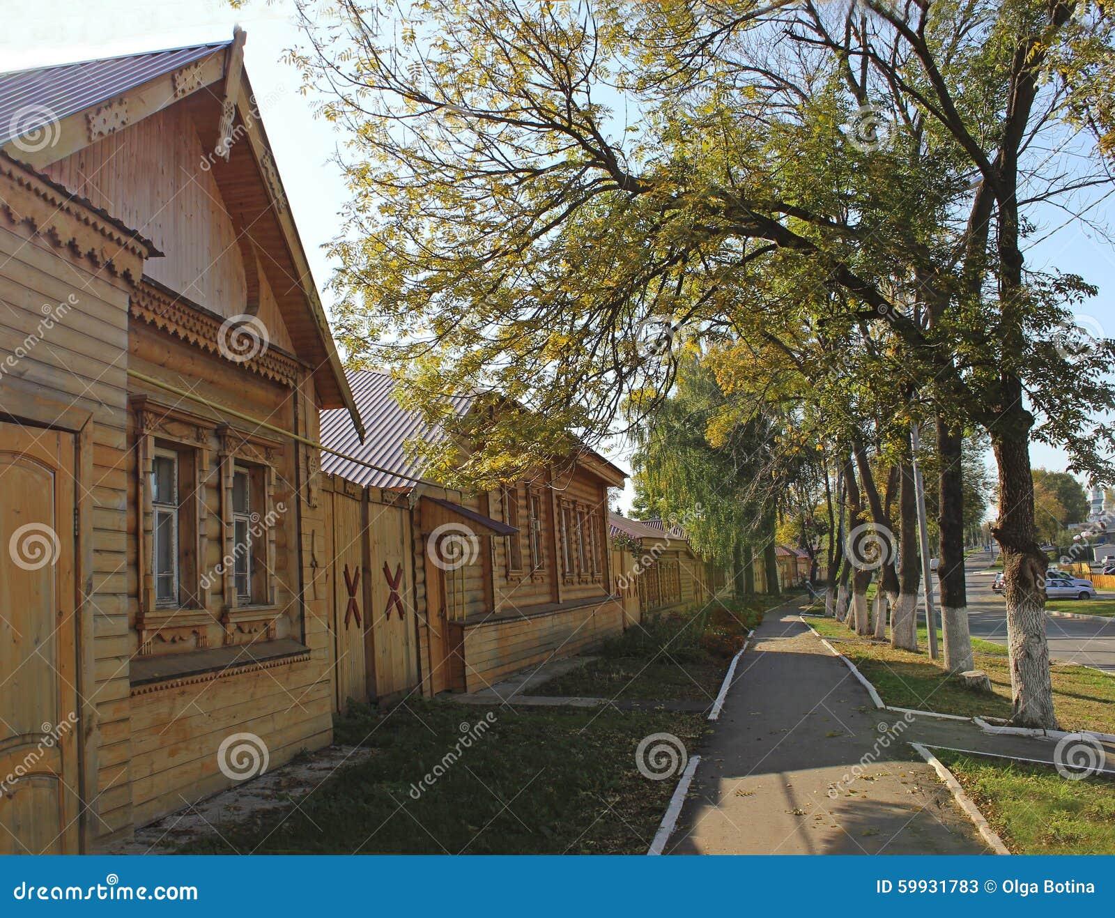 Drewniana architektury ulica