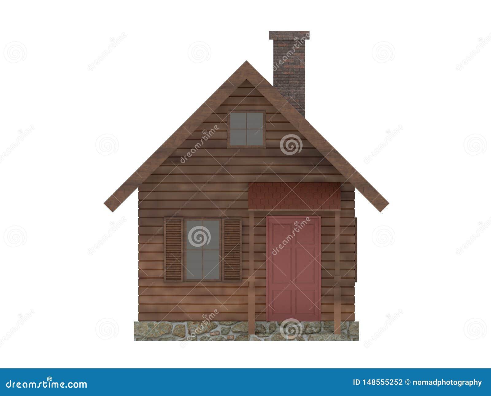 Drewniana malutka domowa kabina