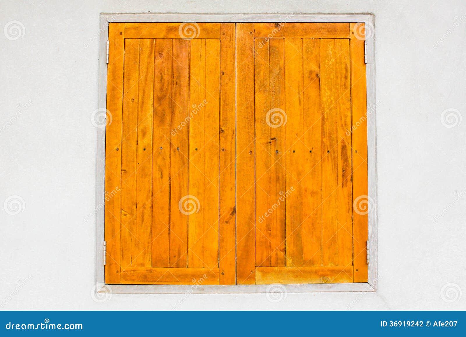 Drewniana okno powierzchnia parkietowa na ściennym tekstury tle
