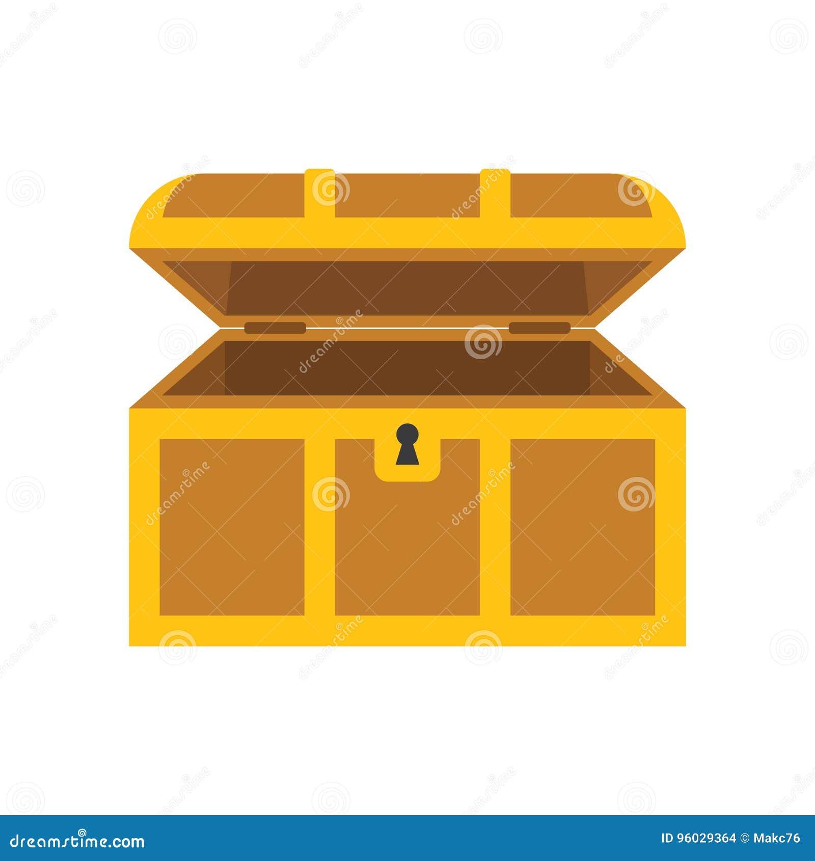 Drewniana pusta klatka piersiowa z otwartą pokrywą