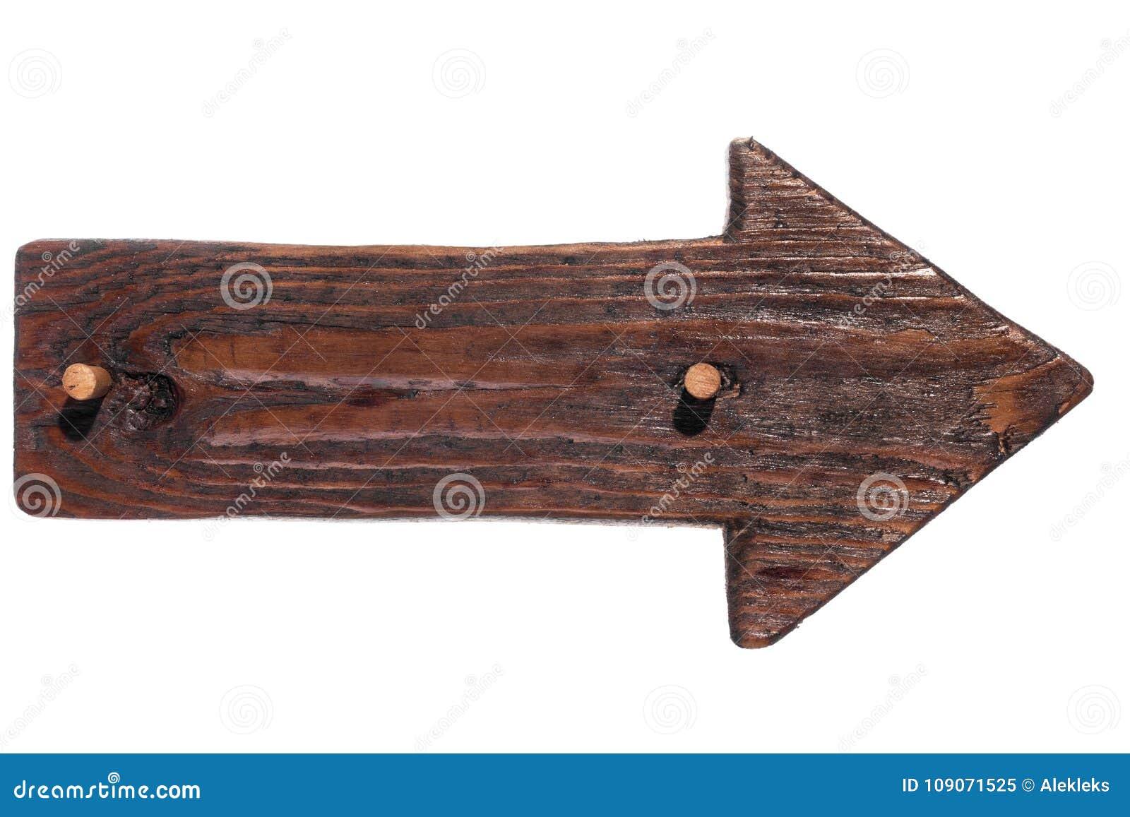 Drewniana strzała pointer drewno z drewnianym gagiem odosobniony