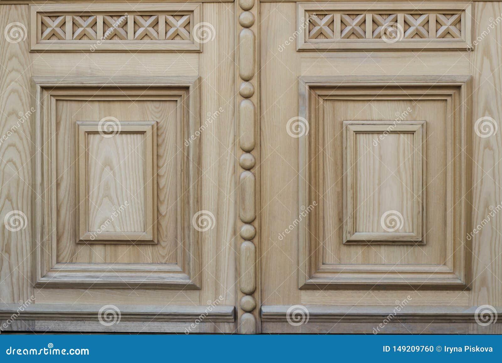 Drewniana tekstura z wzorem Czerep drewniany drzwi