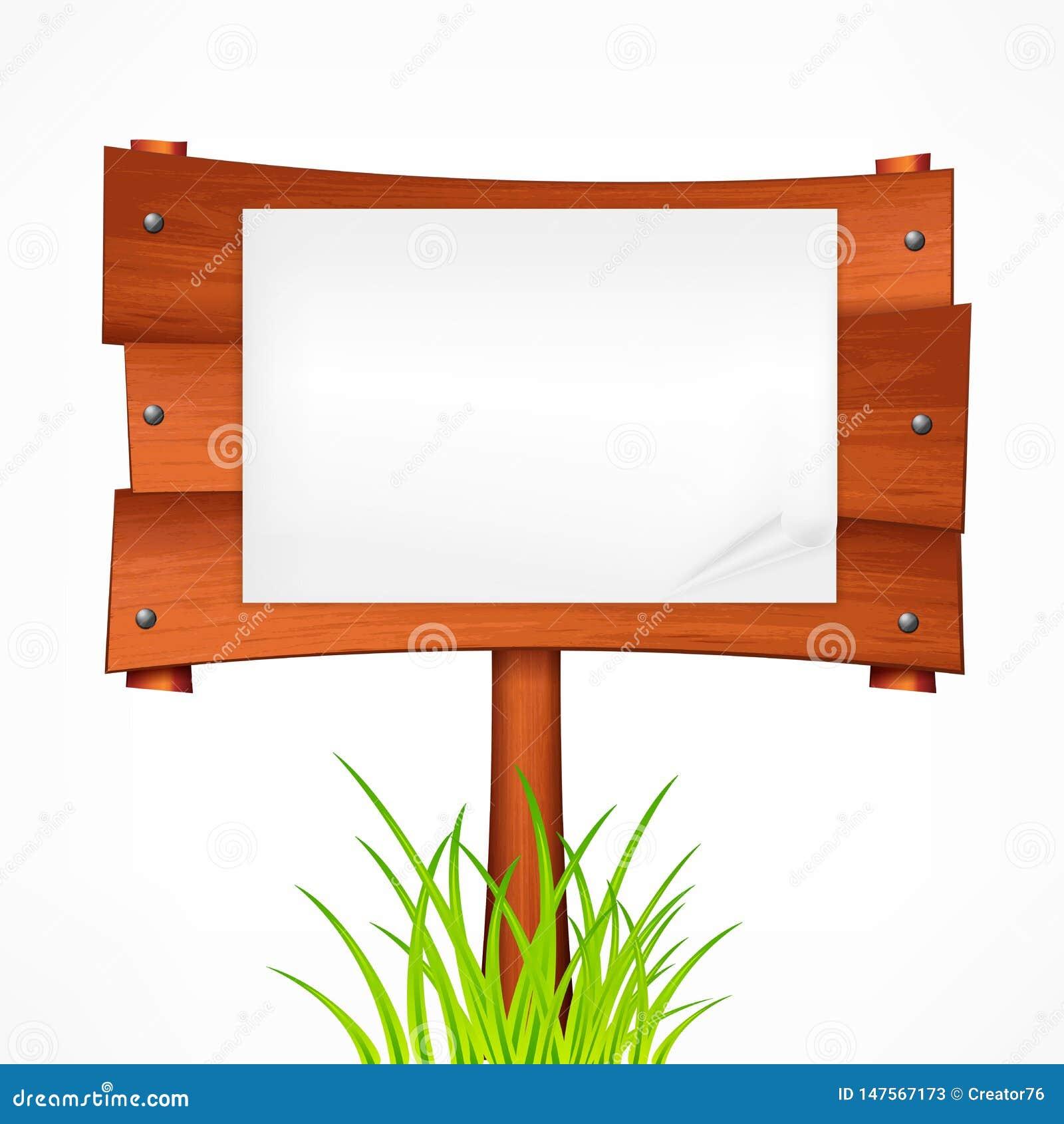 Drewniana znak deska na kiju r?wnie? zwr?ci? corel ilustracji wektora