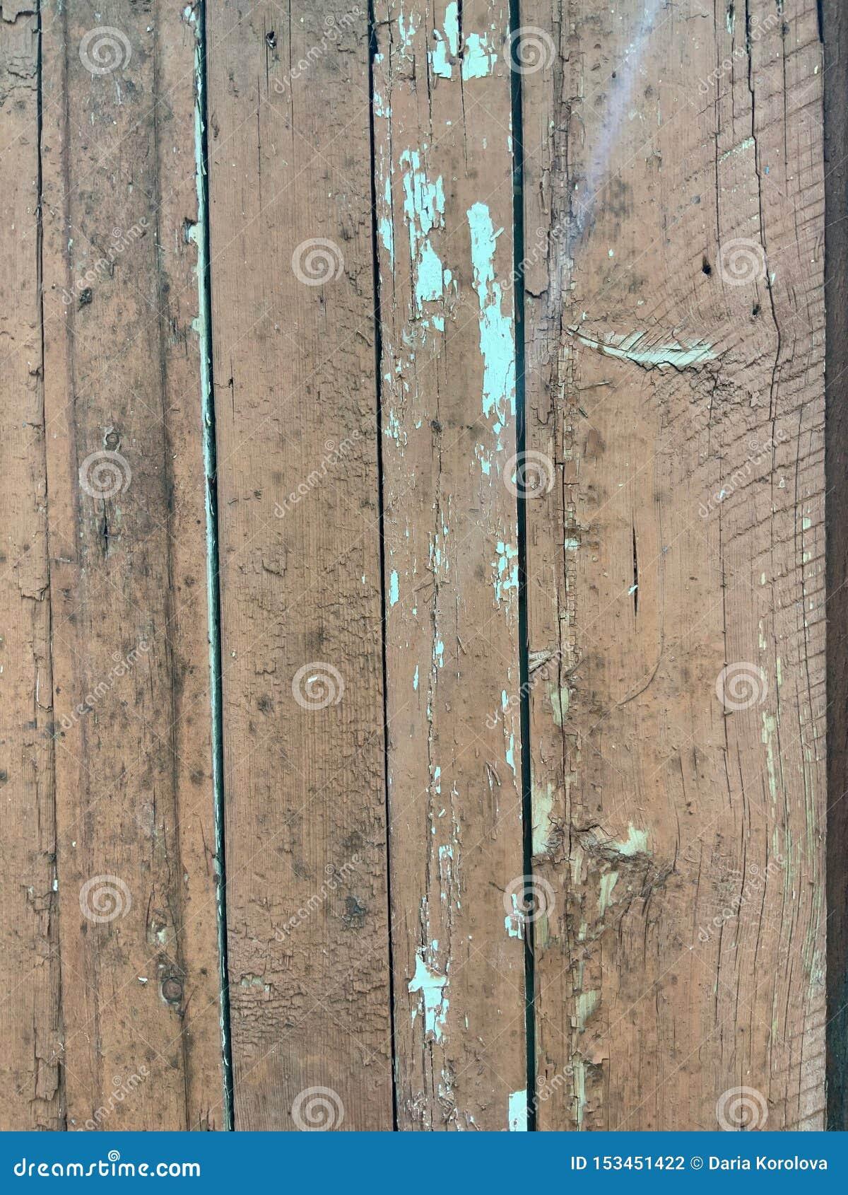 Drewniane deski z starą farbą turkusowy kolor