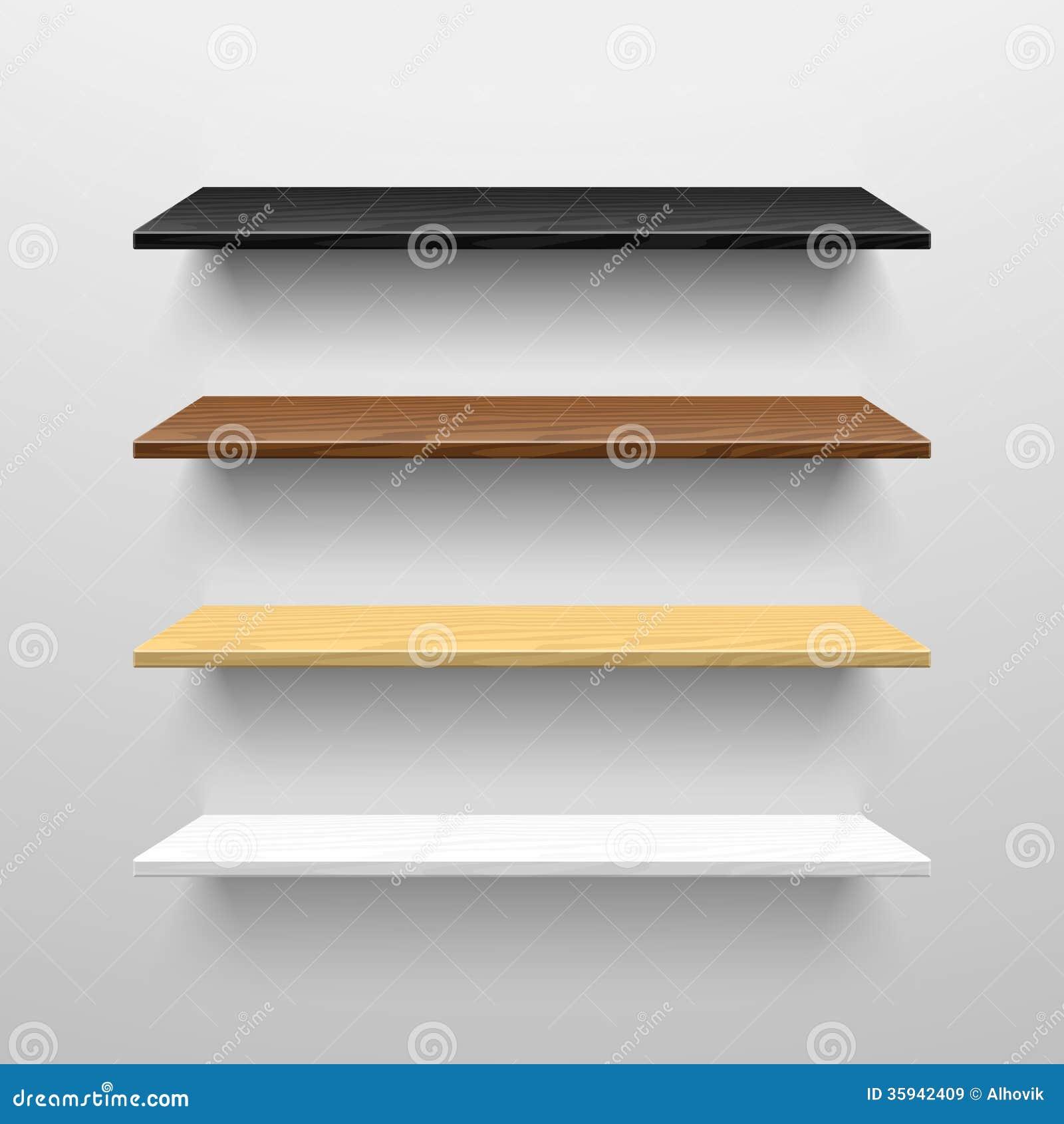 Drewniane półki