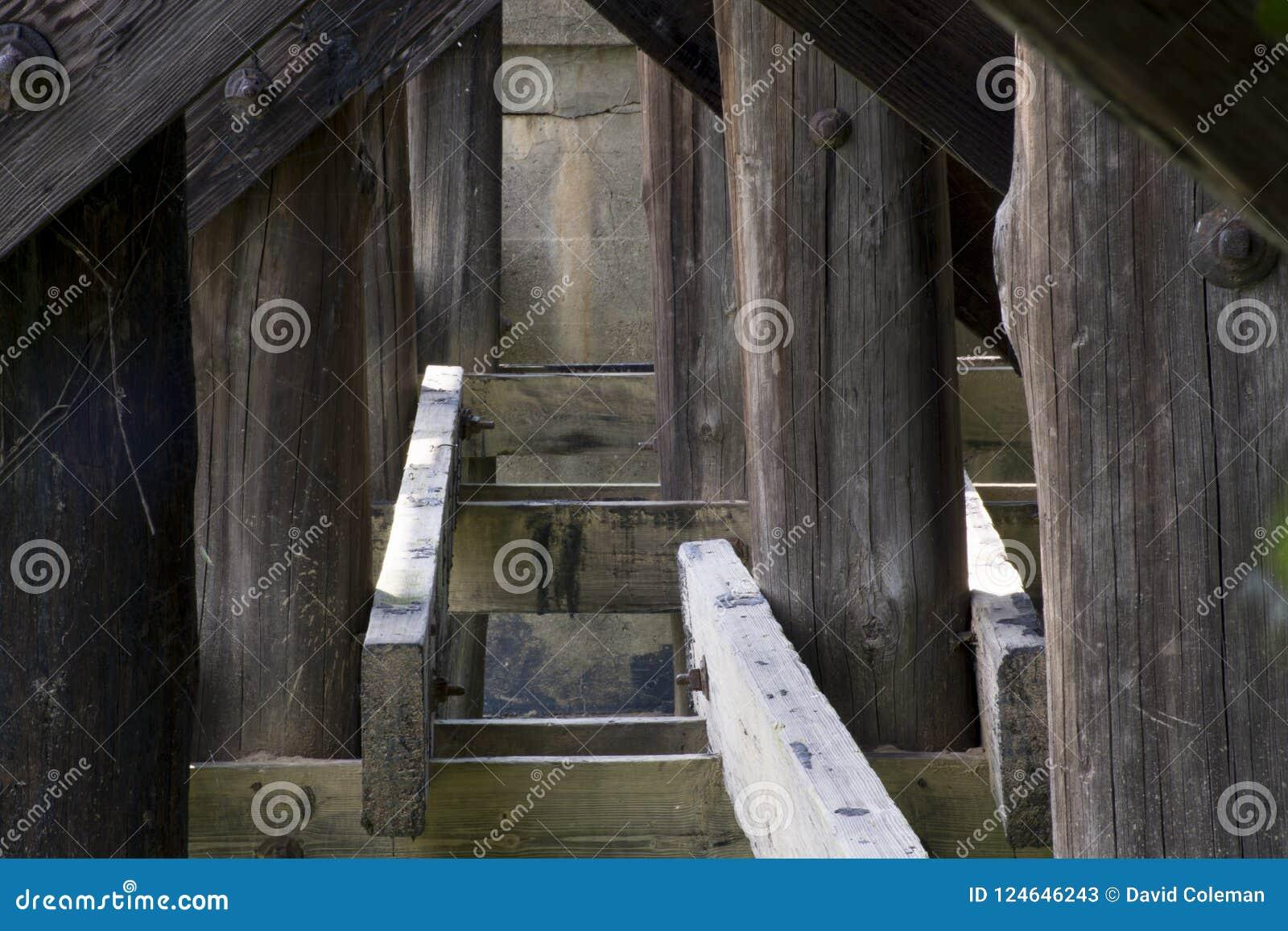 Drewnianego mosta poparcia
