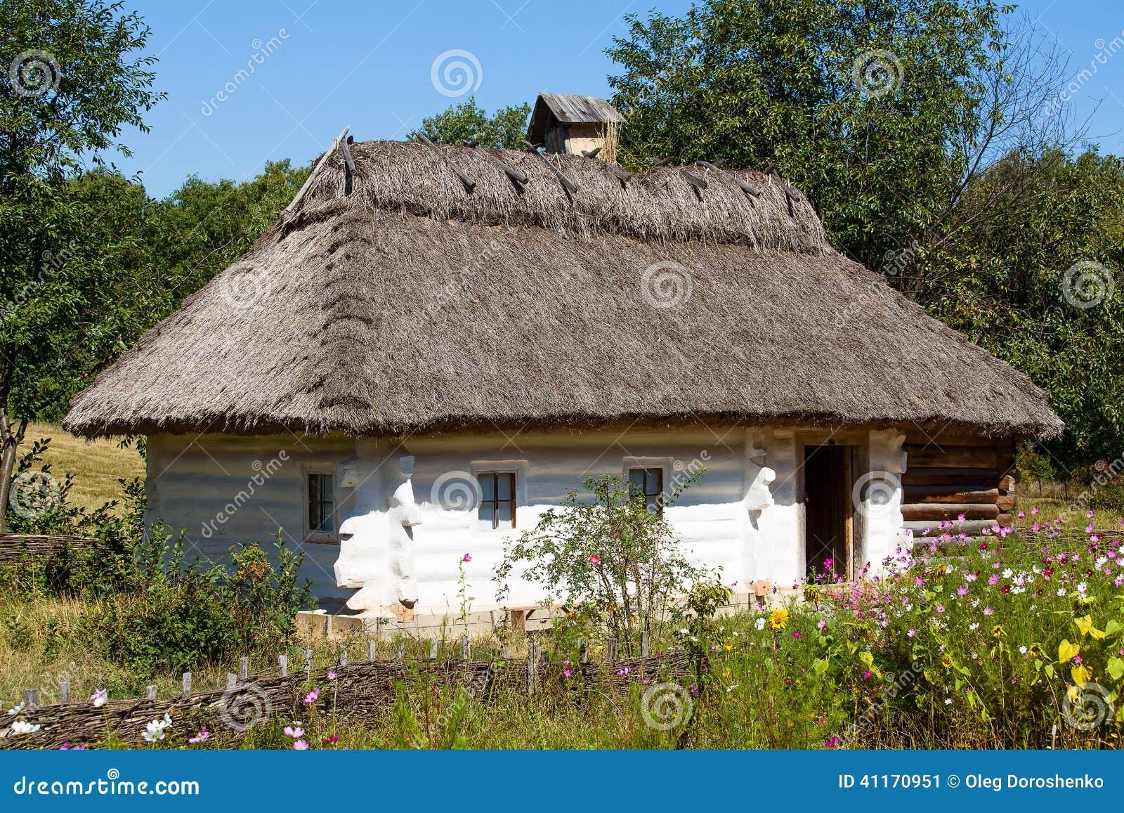 Groovy Drewniani Domy, Kijów, Ukraina Obraz Stock - Obraz złożonej z UC86