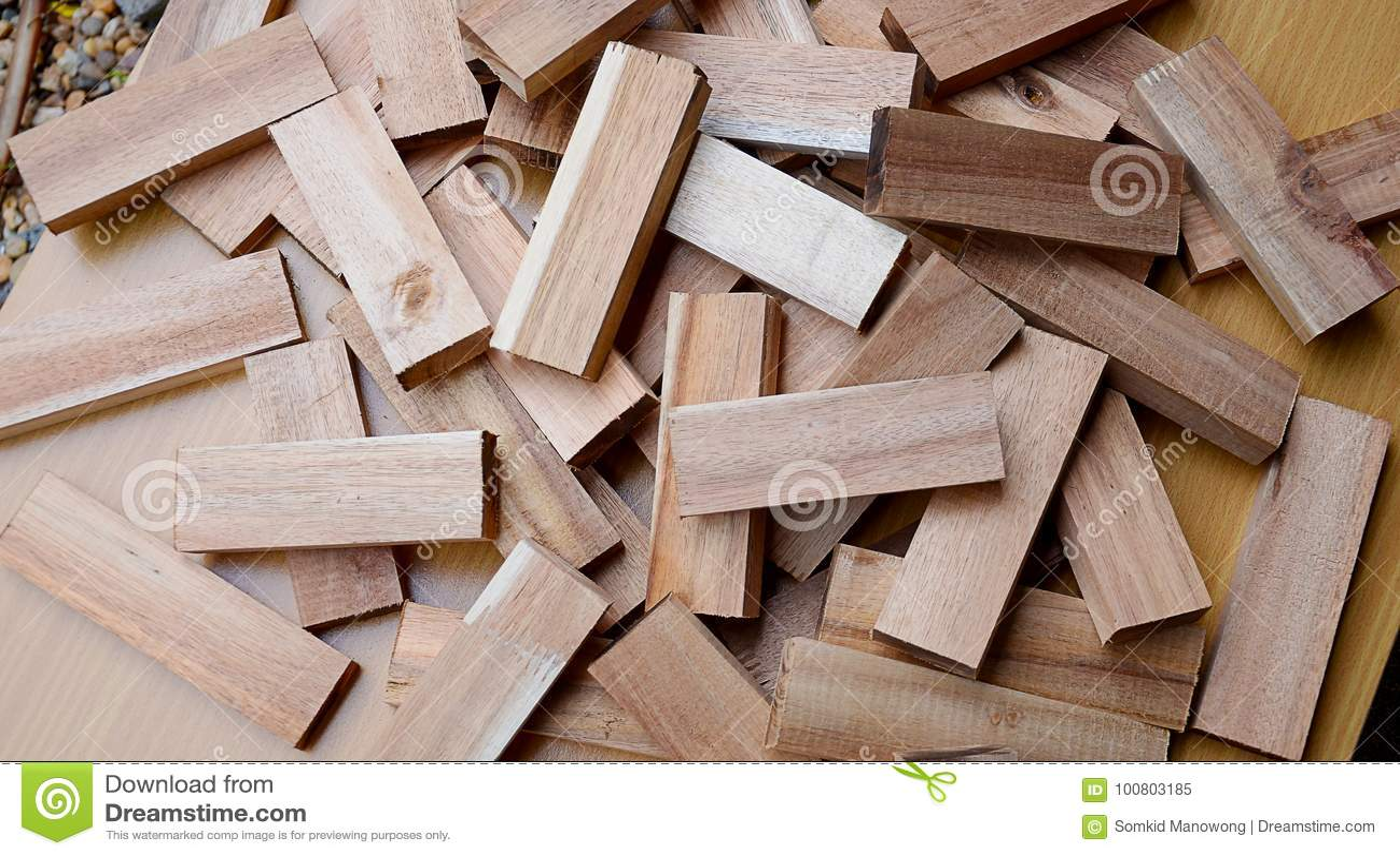 Drewniany Czerep Maly Drewno Wiele Kawalki Drewno Obraz Stock