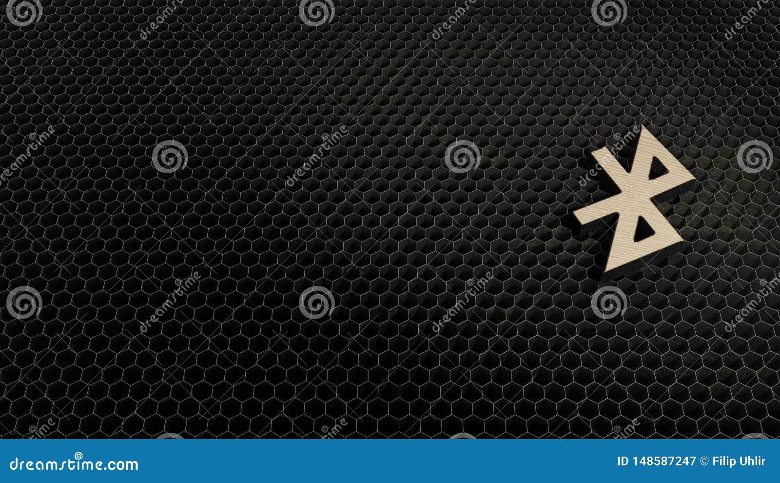 Drewniany 3d symbol bluetooth ikona odp?aca si?