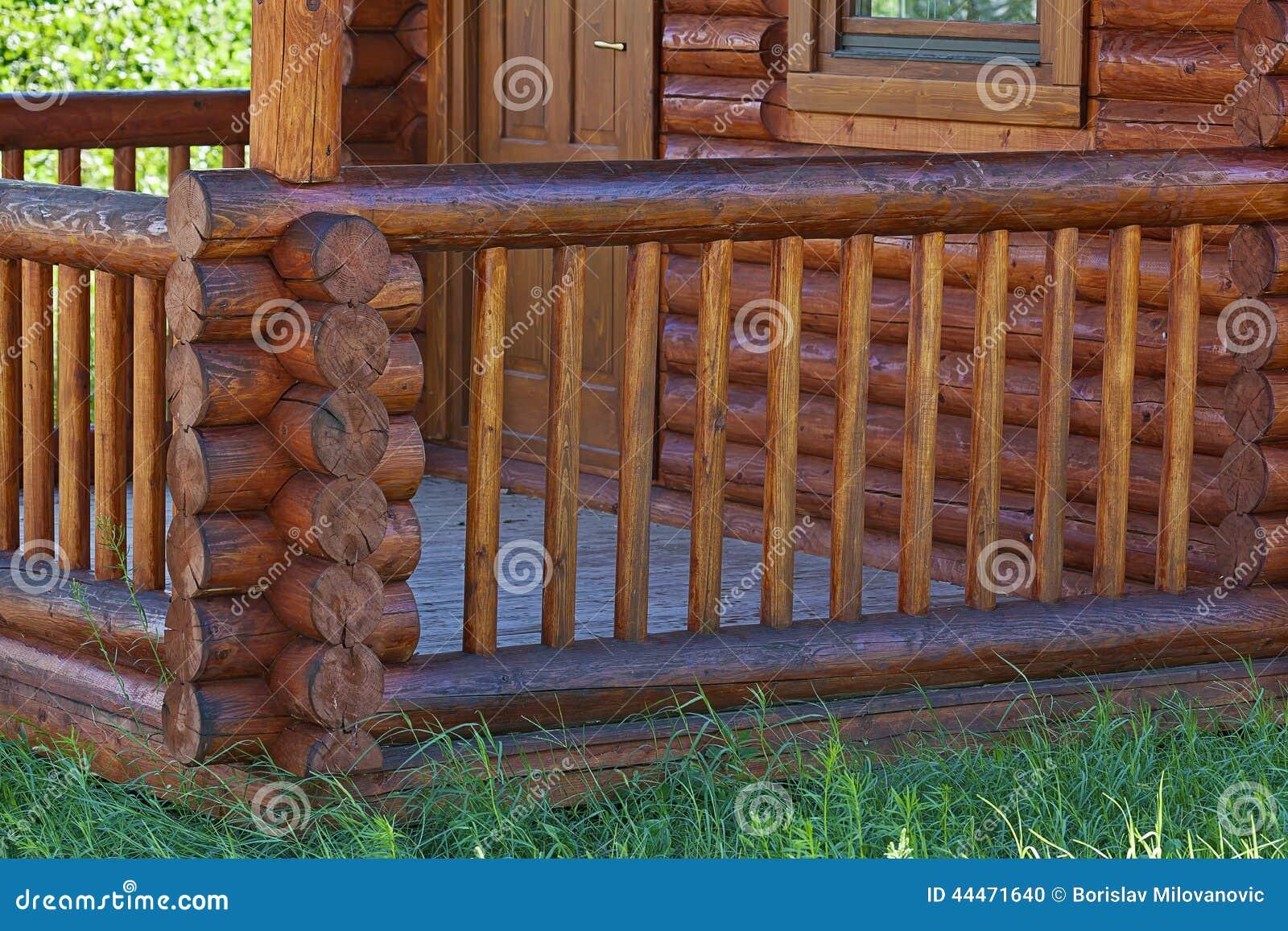 Drewniany ganeczek