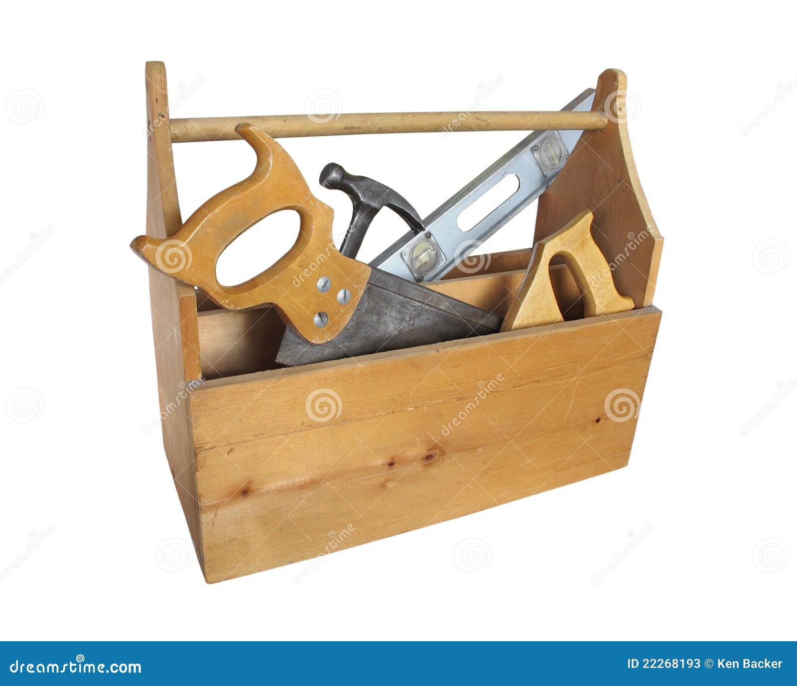 Drewniany odosobniony toolbox