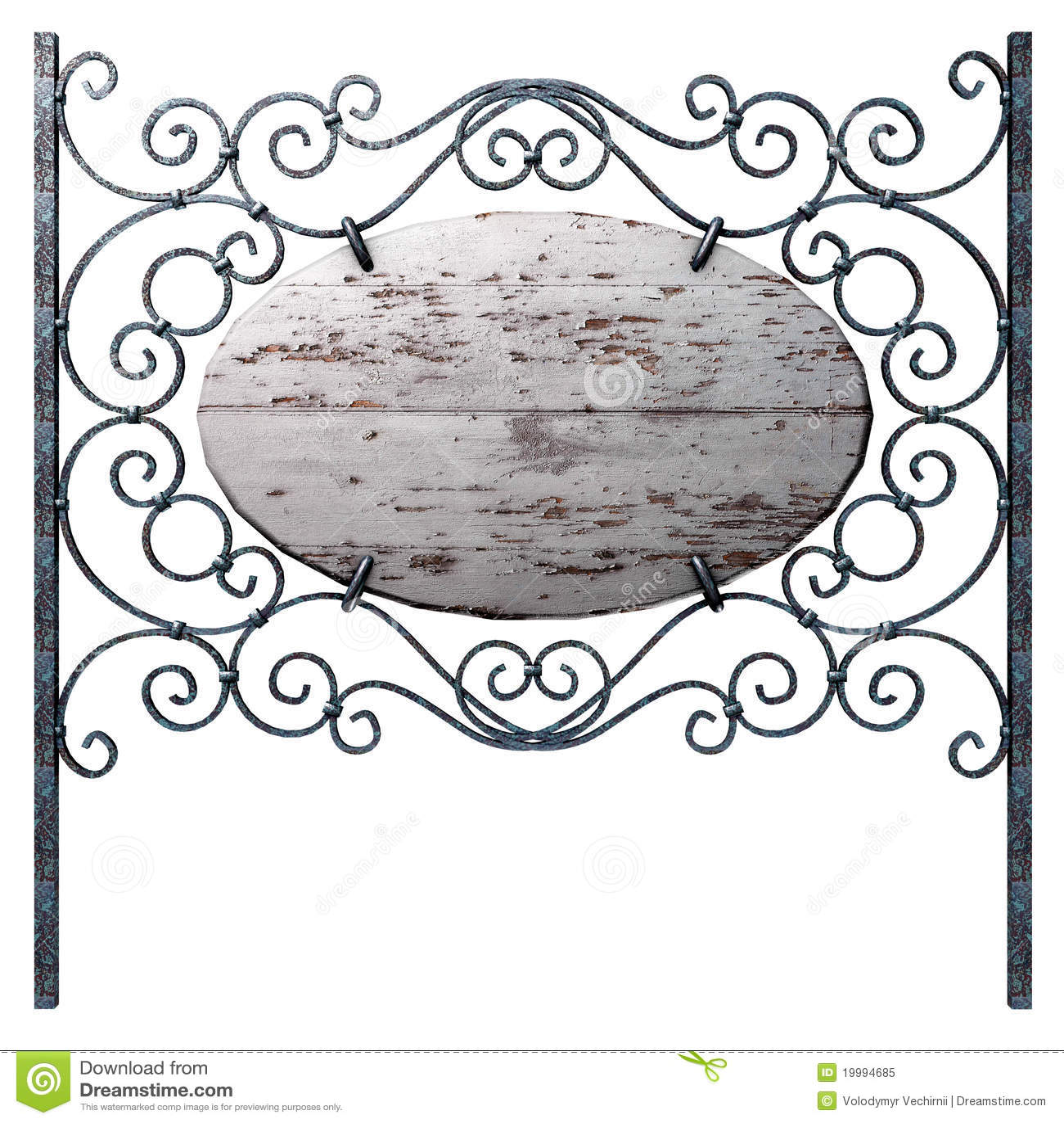 Drewniany stary signboard