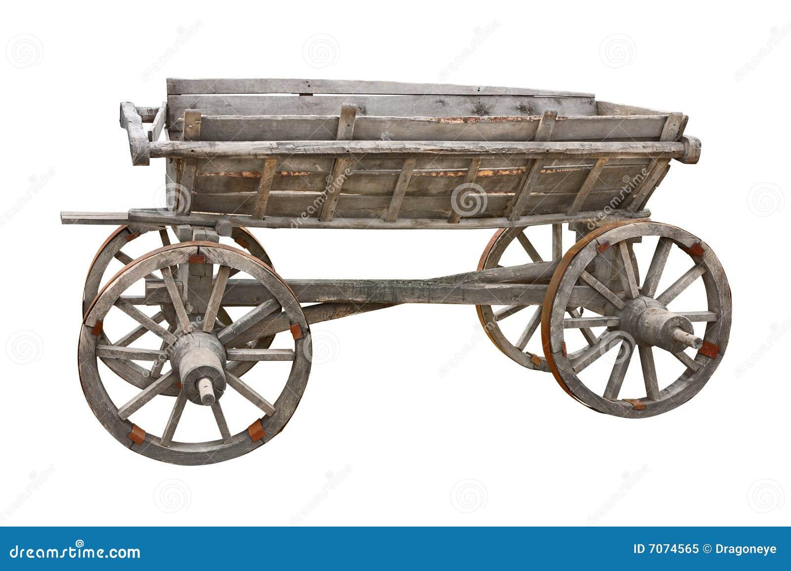 Drewniany stary wycinanka furgon