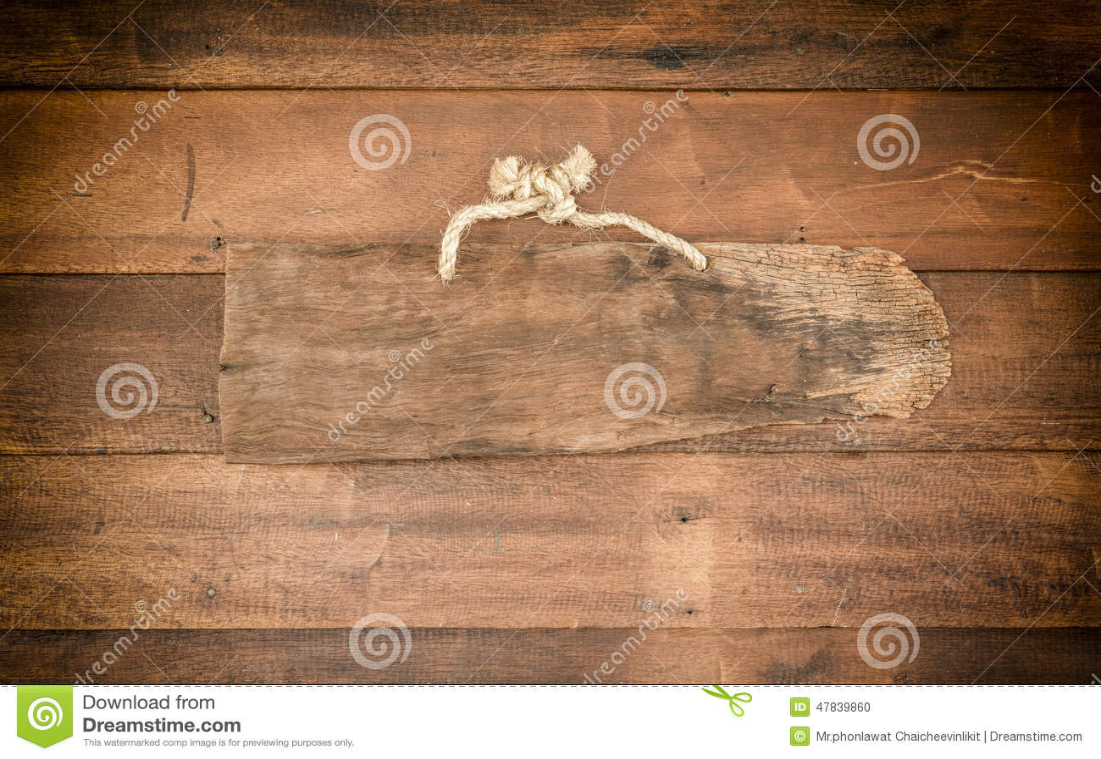 Drewniany sztandar