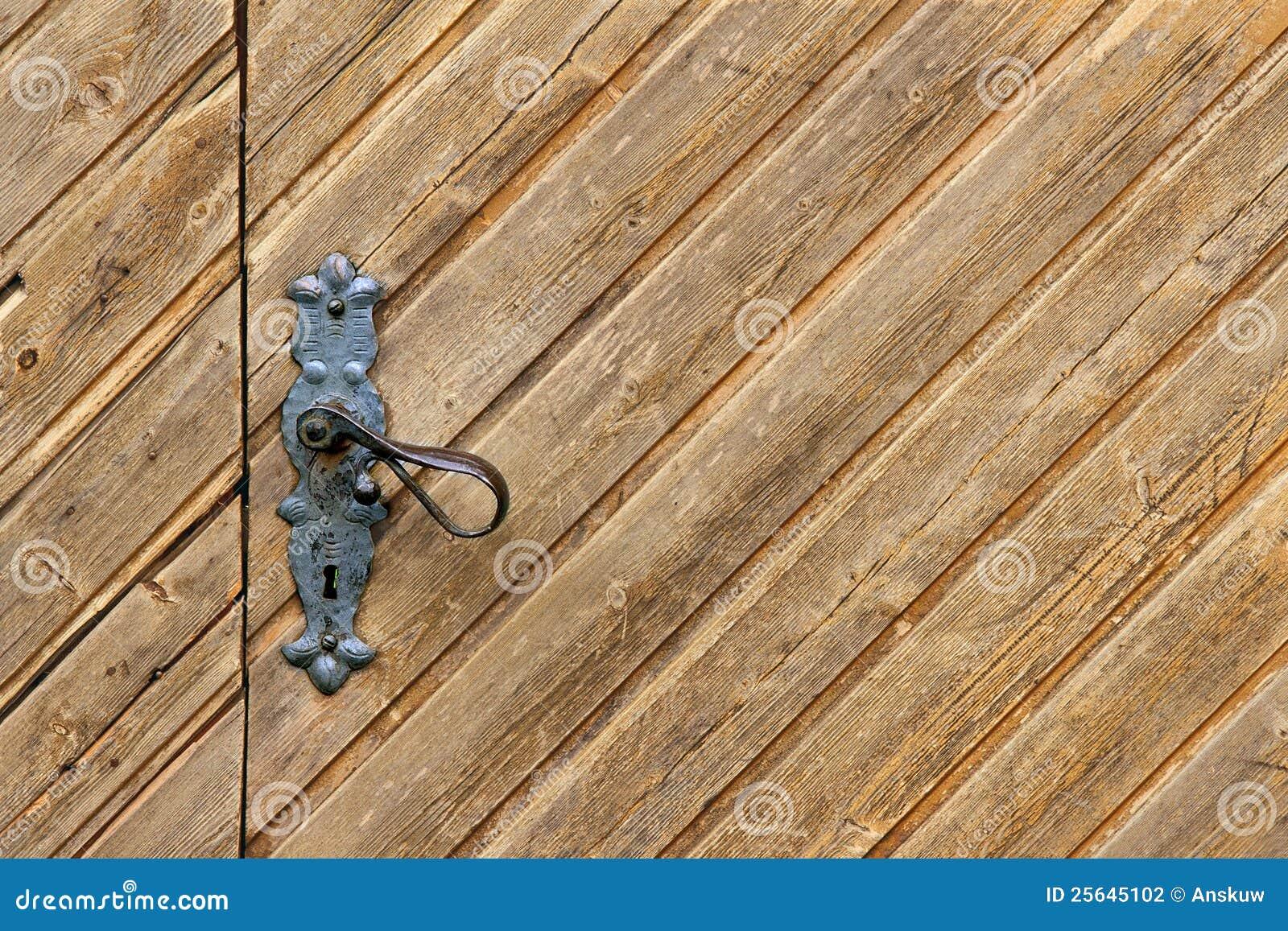 Drewniany tła drzwi
